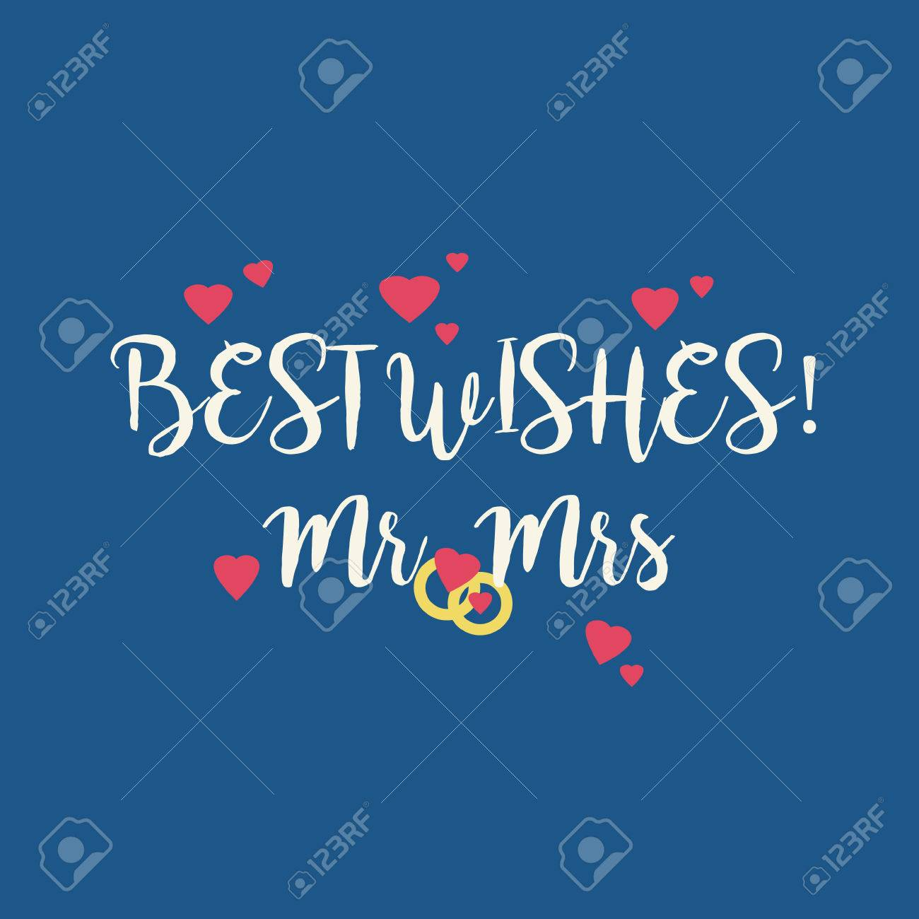 cute blue wedding best wishes mr mrs congratulations greeting