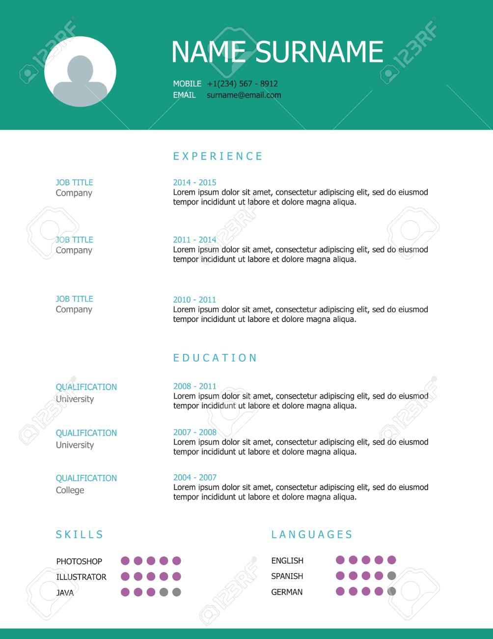 Ziemlich Schriftart Im Lebenslauf Bilder - Entry Level Resume ...