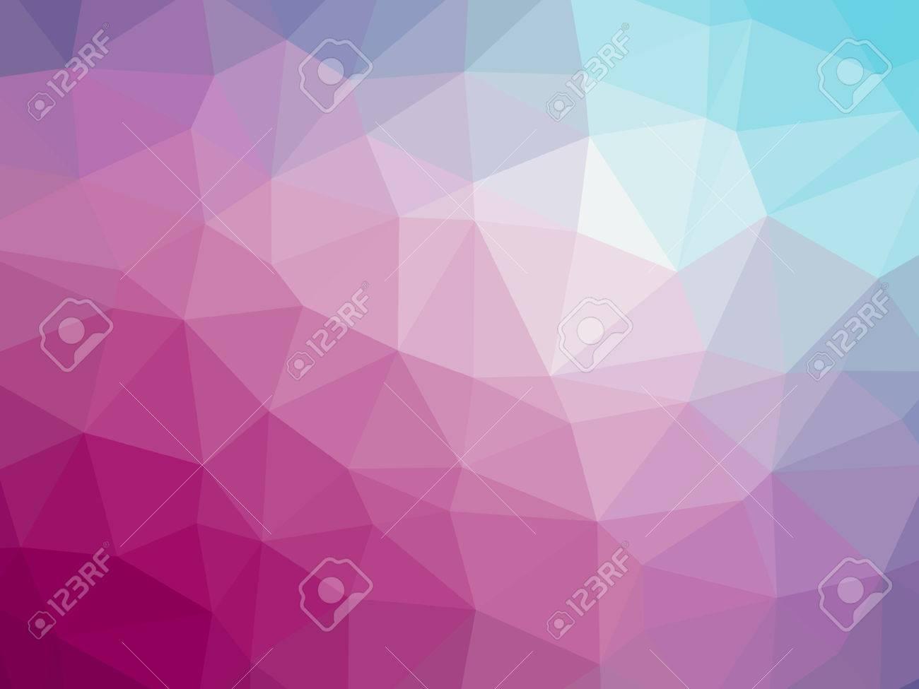Arc En Rose Dégradé Bleu Polygone Fond Forme Banque Dimages Et