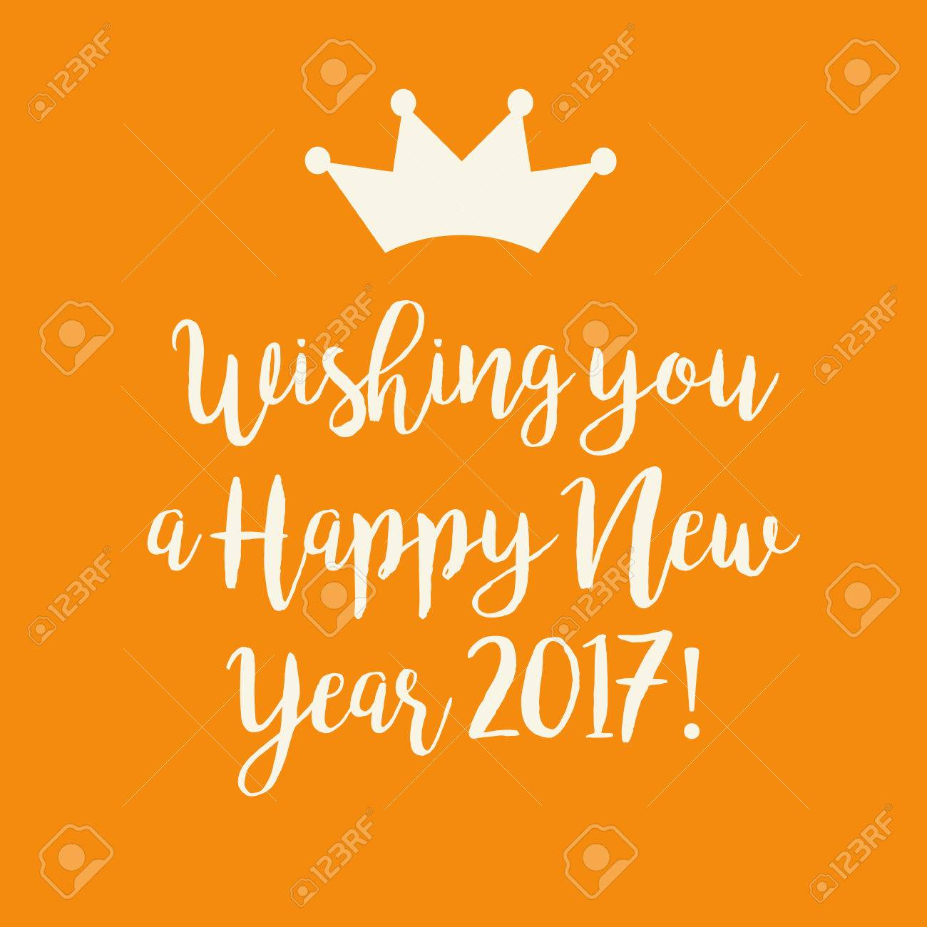 Nette Orange Wir Wünschen Ihnen Einen Guten Rutsch Ins Neue Jahr ...