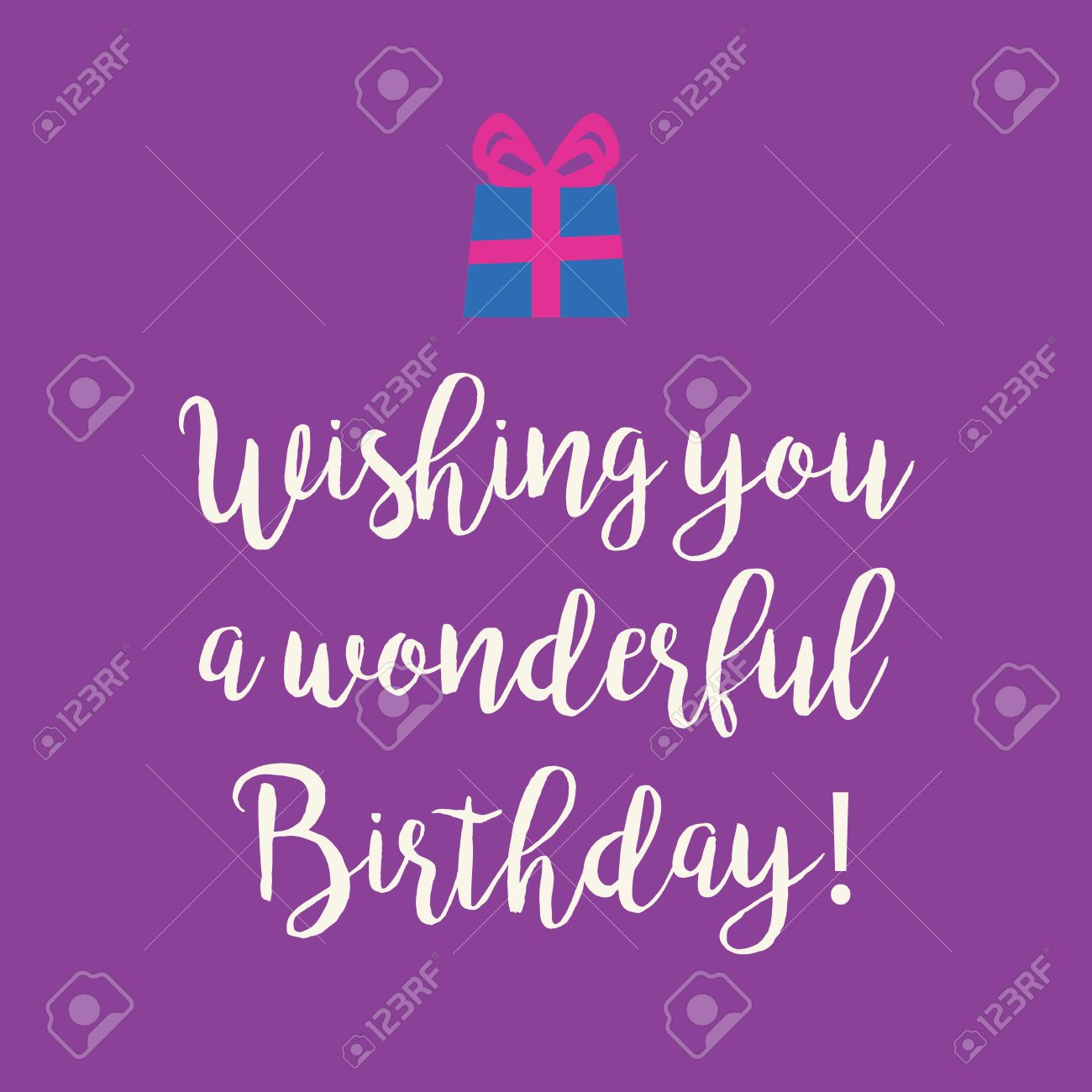 Cute Wishing You A Very Happy Birthday Greeting Card With A