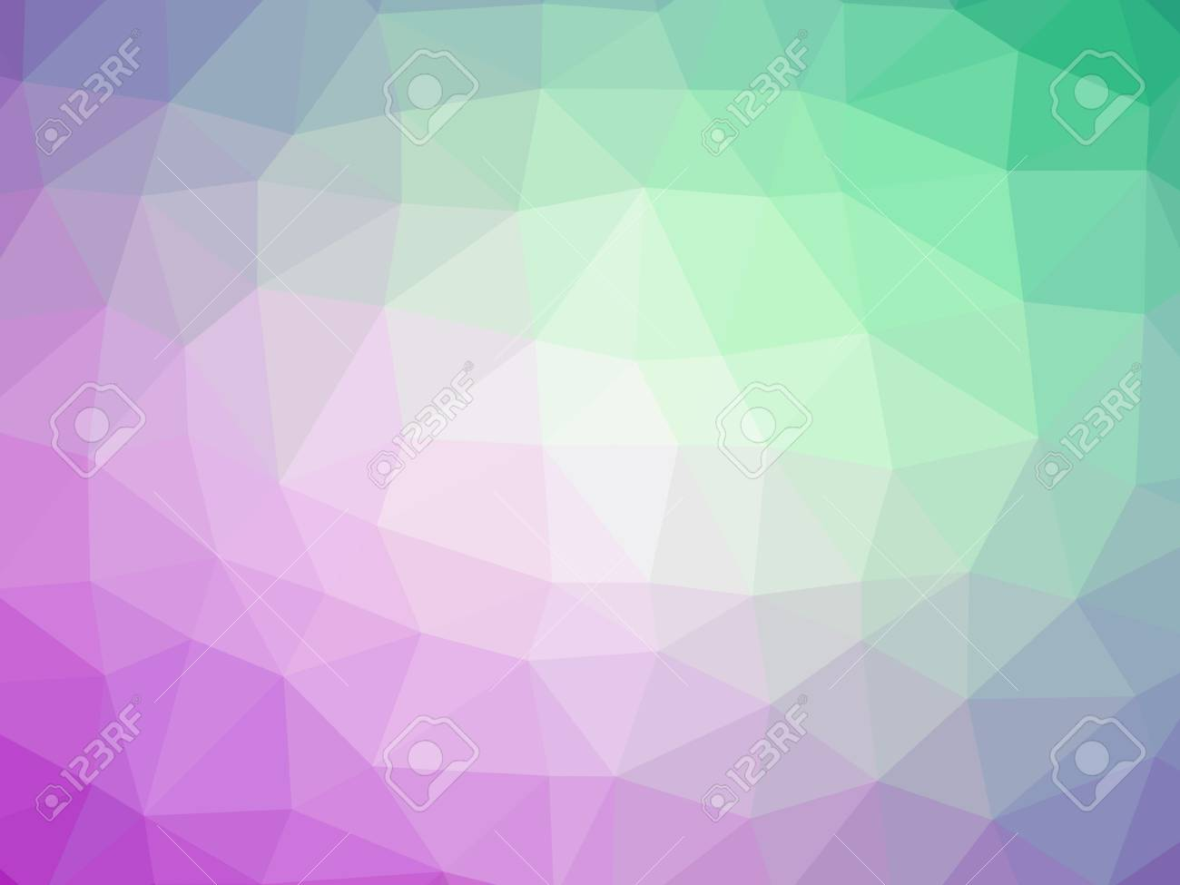 Purple Blue Green Abstract Gradient Polygon Shaped Background