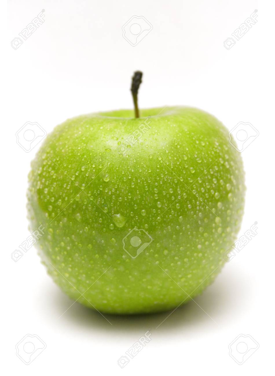Green Apple w/ Waterdrops Stock Photo - 431424