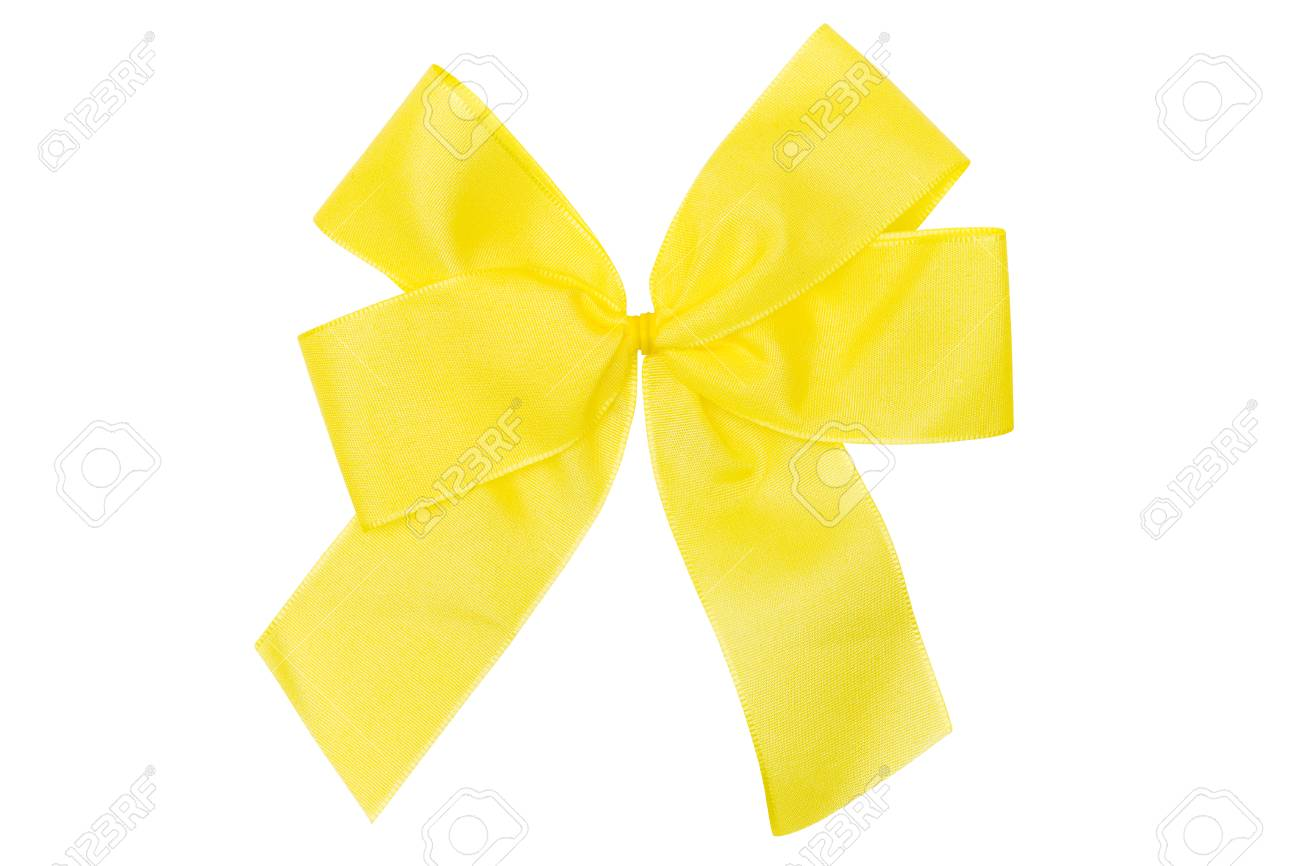 Satin bow isolated on a white background. File contains clipping path. Stock Photo - 1483365
