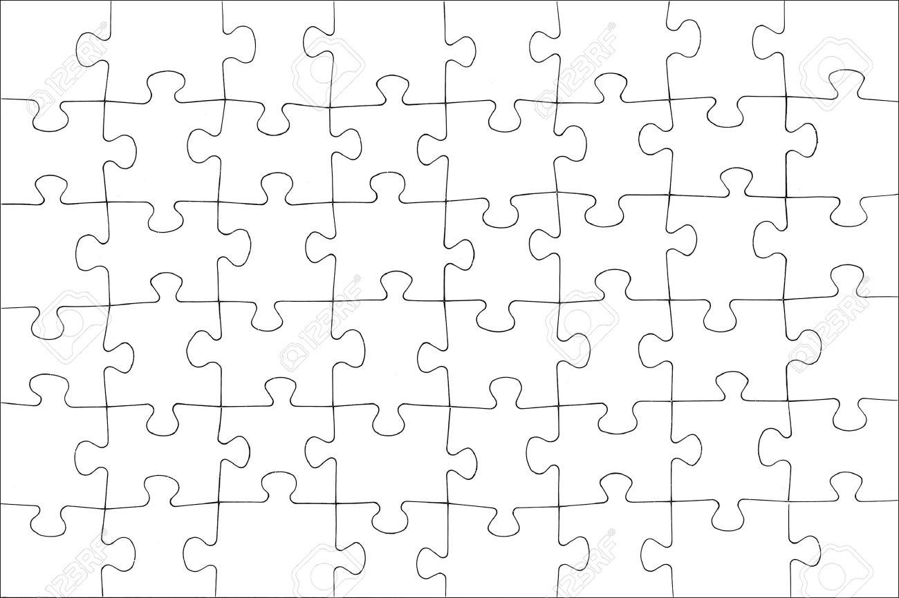 Blank white puzzle texture. Stock Photo - 1545980