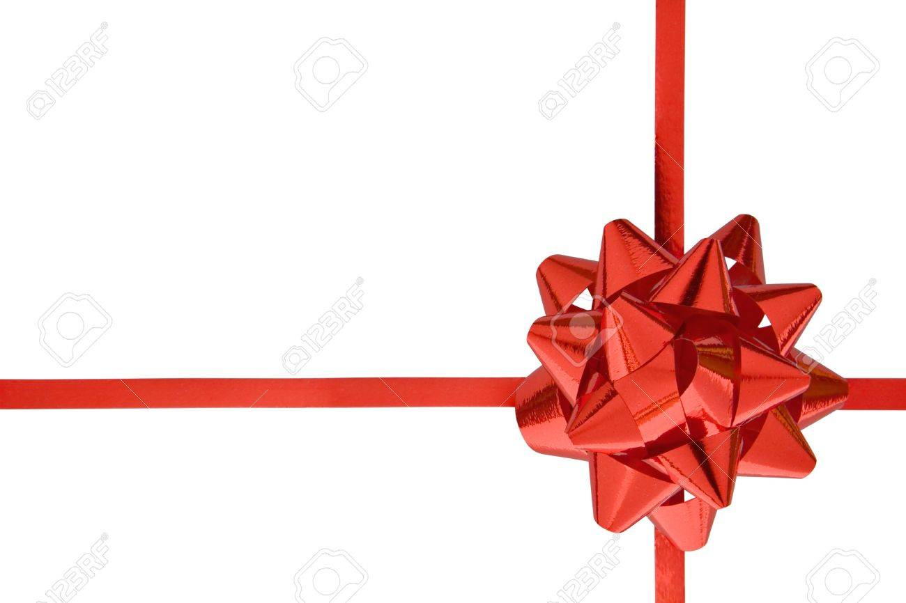 Gift ribbon isolated on a white background. - 2225747