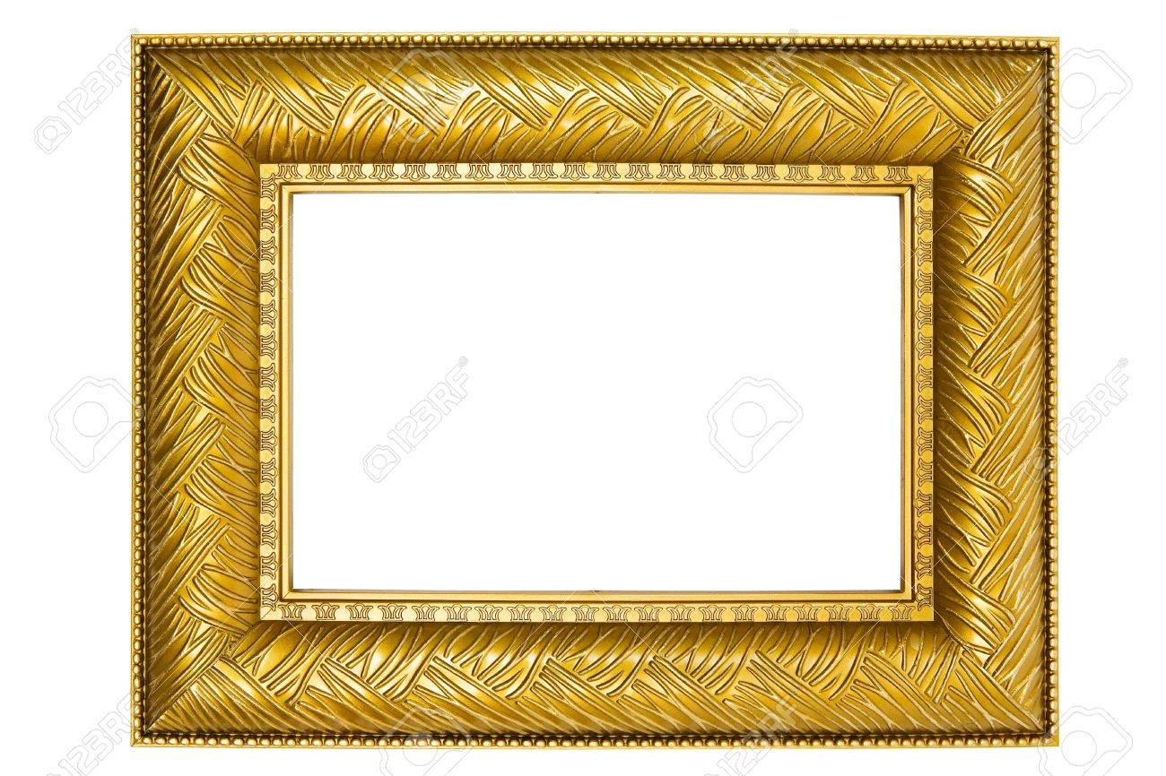 Old-fashioned picture frame isolated on a white background. - 2225796