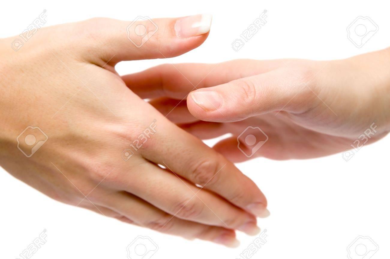 Handshake isolated on a white background. - 2557453