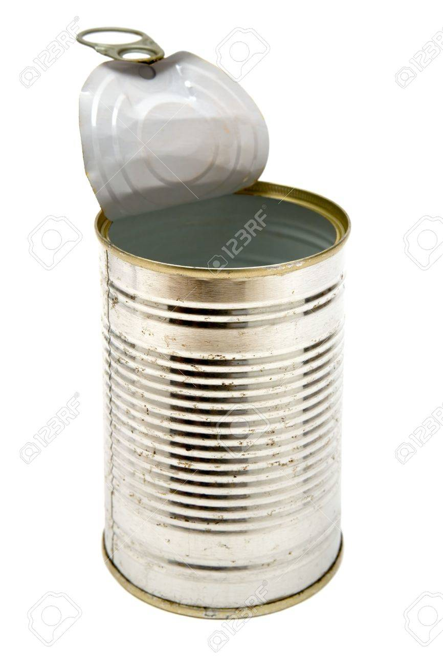 Metal can isolated on a white background. - 2705849