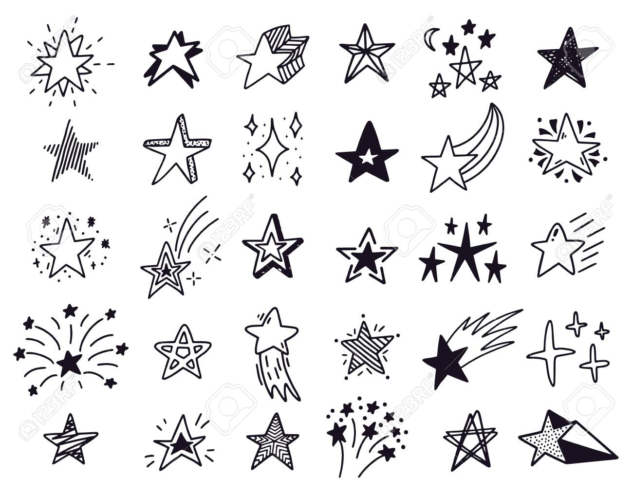 Doodle Stars Hand Drawn Sketch Stars Starry Doodles Drawing Royalty Free Cliparts Vectors And Stock Illustration Image 144945581 1 watcher586 page views2 deviations. doodle stars hand drawn sketch stars starry doodles drawing