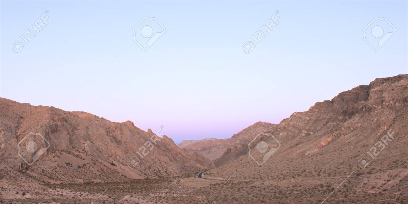 Twilight over Valley of Fire State Park in Nevada Stock Photo - 9430152