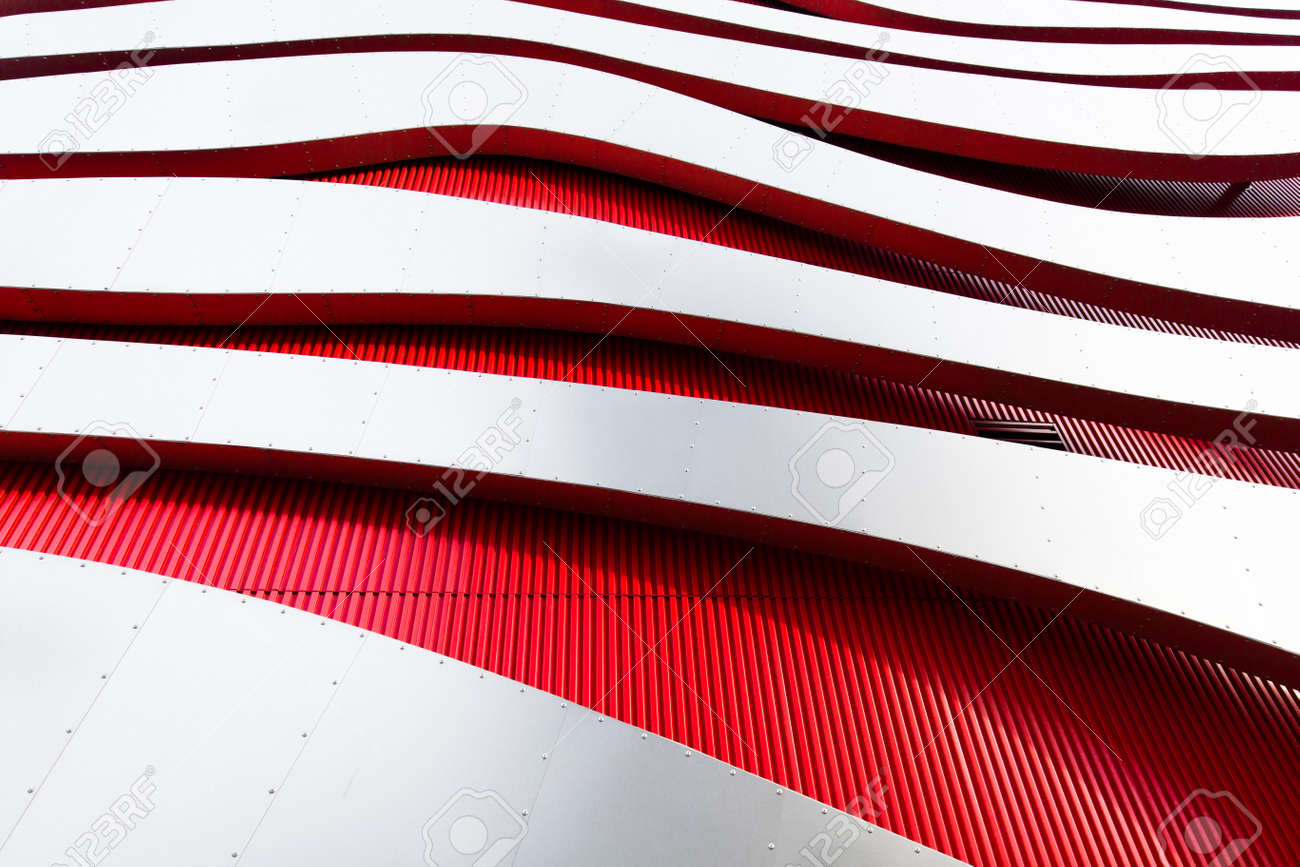 A close-up of the Petersen Automotive Museum - 154755786