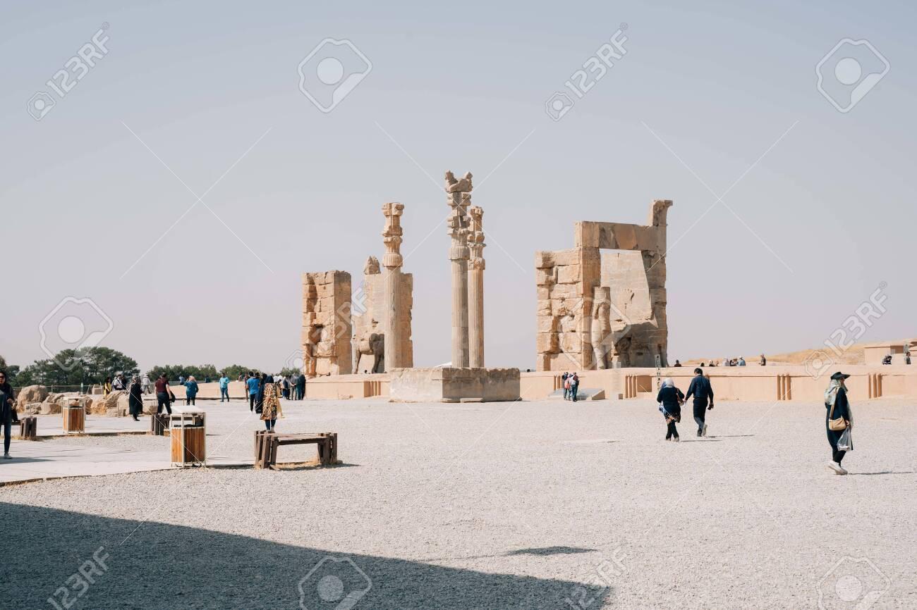 PERSPOLIS, IRAN - Oct 25, 2019: Ruines of Persepolis, the city of the Kings of Persia. - 155081967
