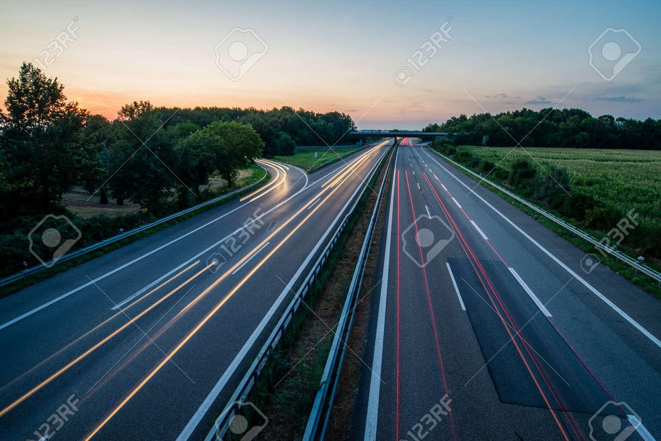 German Highway at Sunset - 157239980