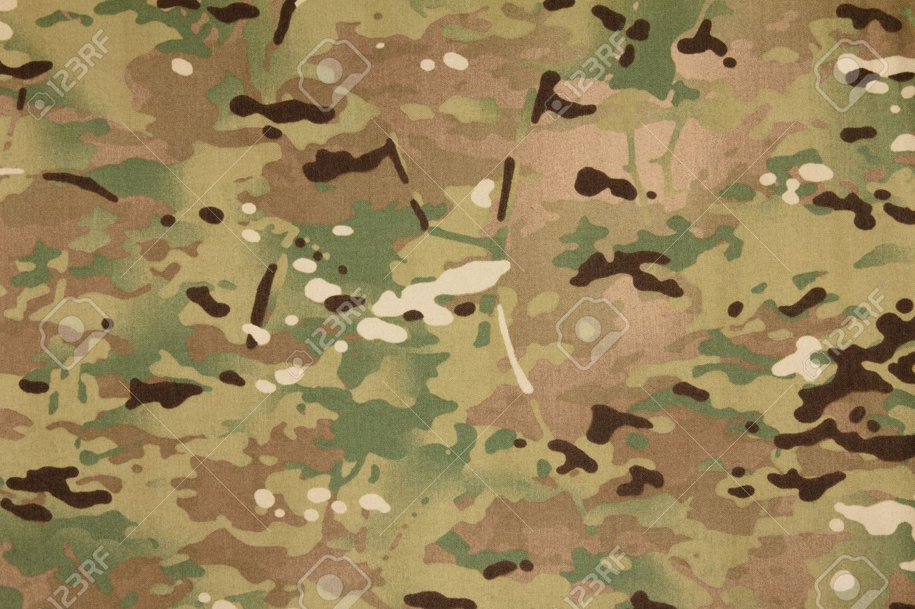 armed force multicam camouflage fabric texture background stock