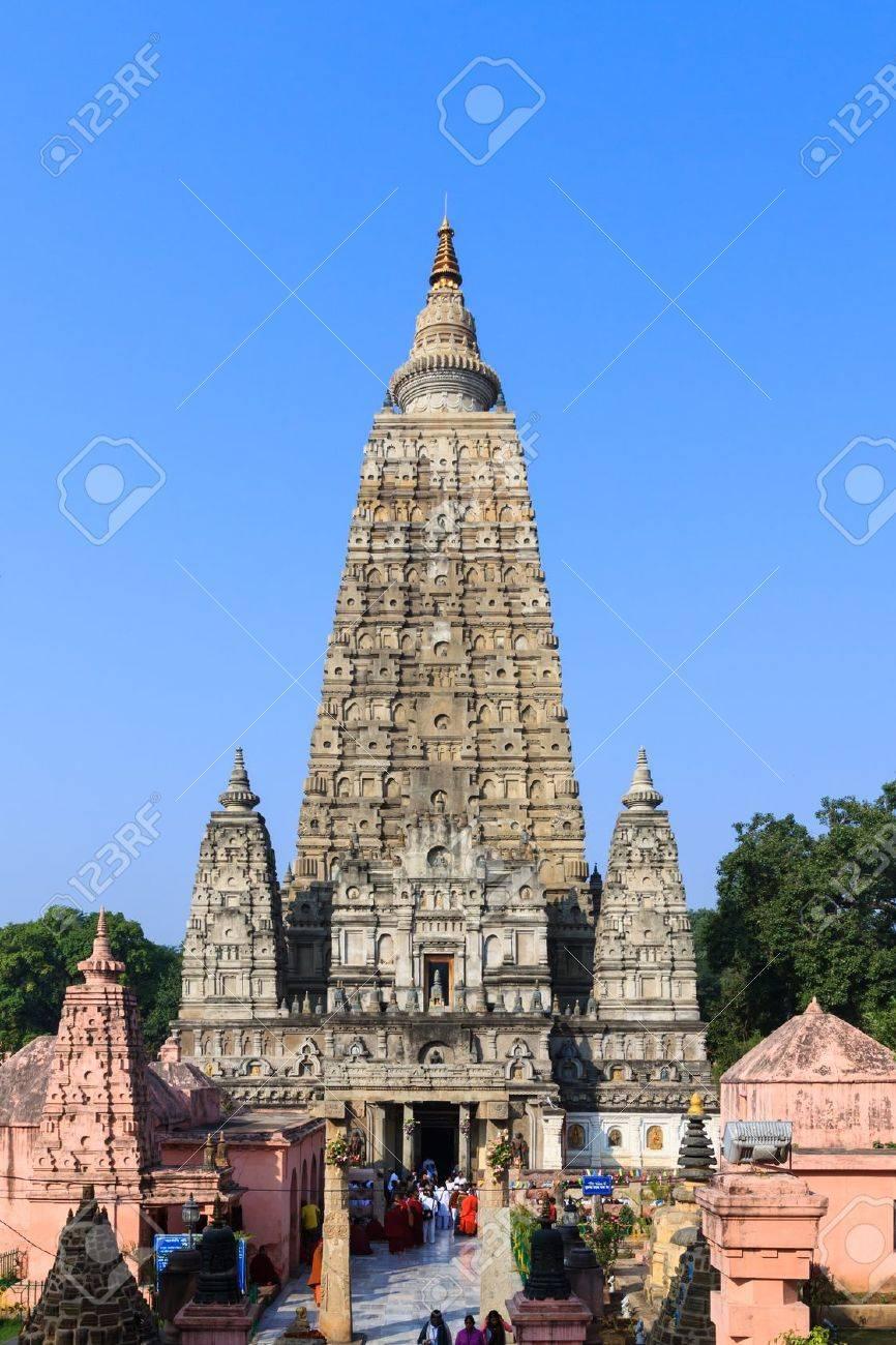Mahabodhi temple, bodh gaya, India. The site where Gautam Buddha attained enlightenment. Stock Photo - 18913660
