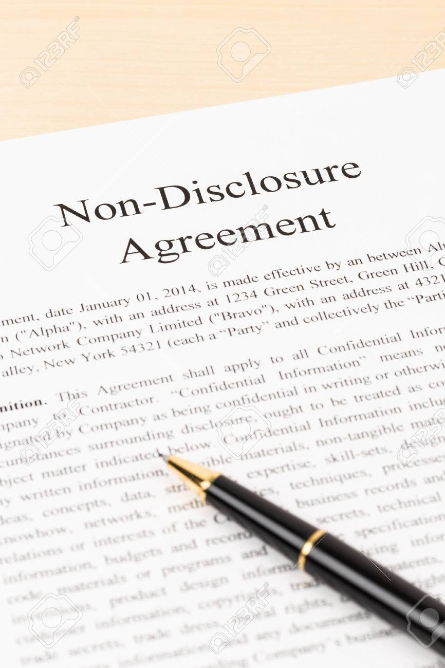 Non Disclosure Agreement Document With Pen Stock Photo Picture And