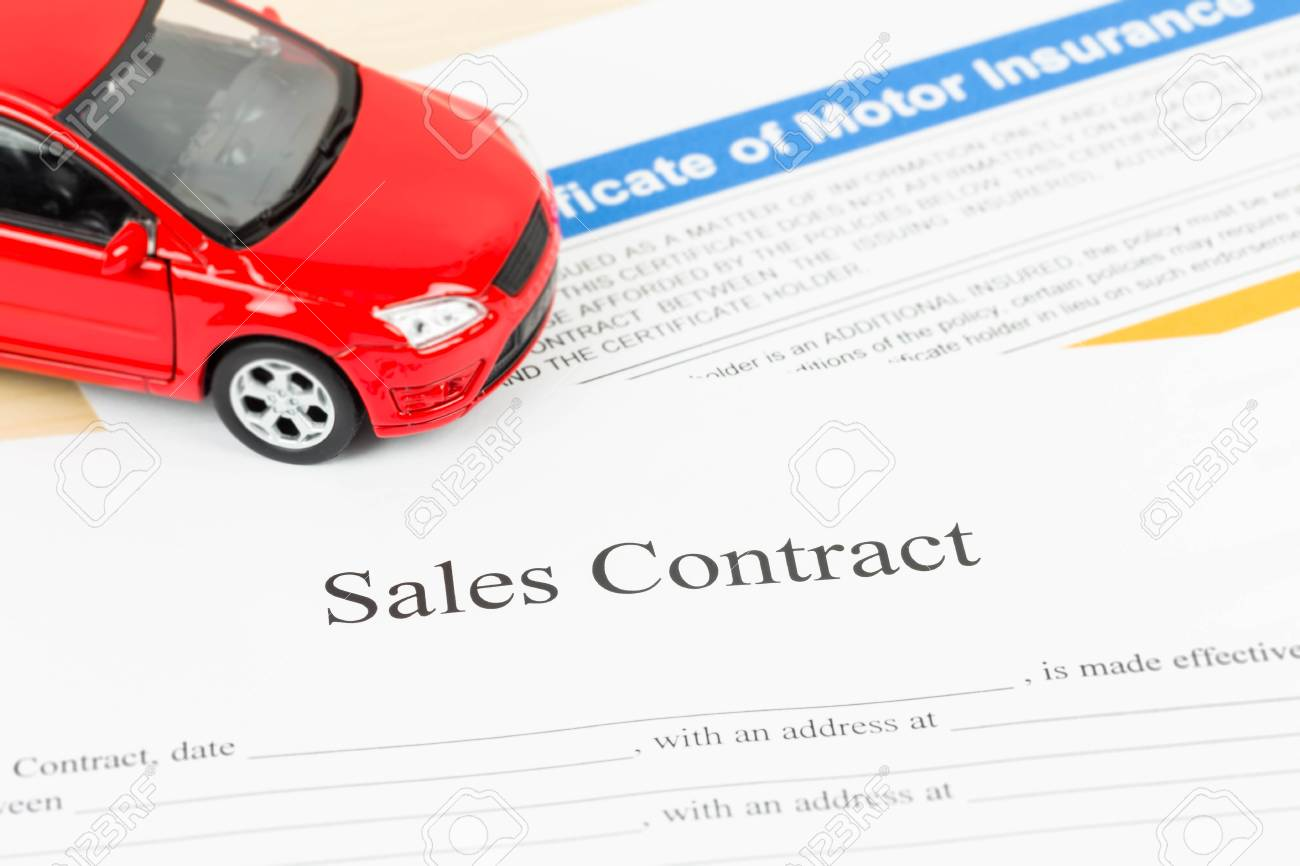 car sales contract document stock photo picture and royalty free