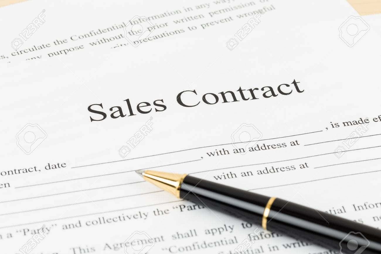 Sales Contract Document With Pen Document Is Mockup Photo – Sales Contract
