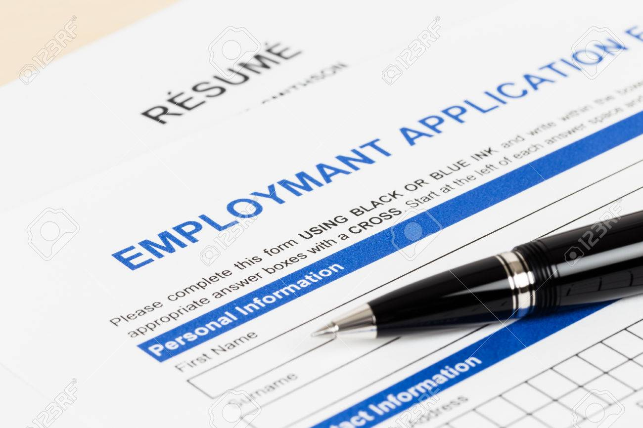 employment application form pen document is mockup stock employment application form pen document is mockup stock photo 40521253