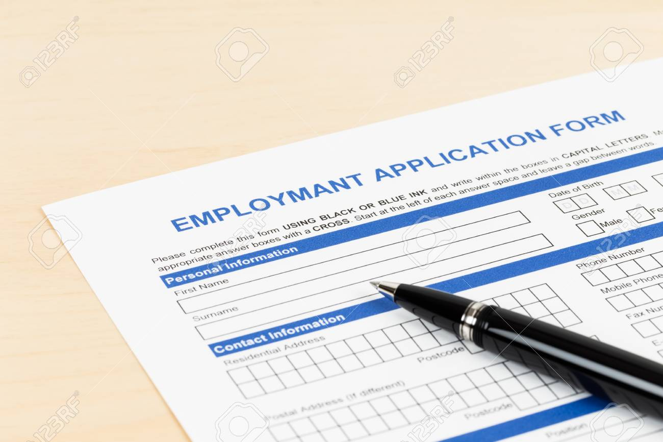 Employment Application Form With Pen Concept Job Applying Stock ...