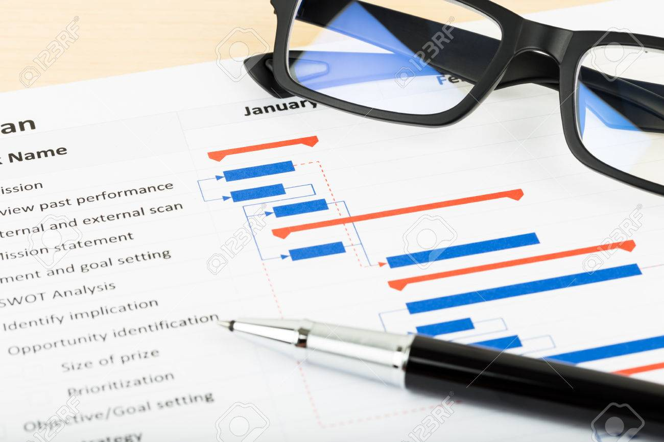 Project management and gantt chart with glasses and pen stock photo project management and gantt chart with glasses and pen stock photo 47966176 geenschuldenfo Gallery