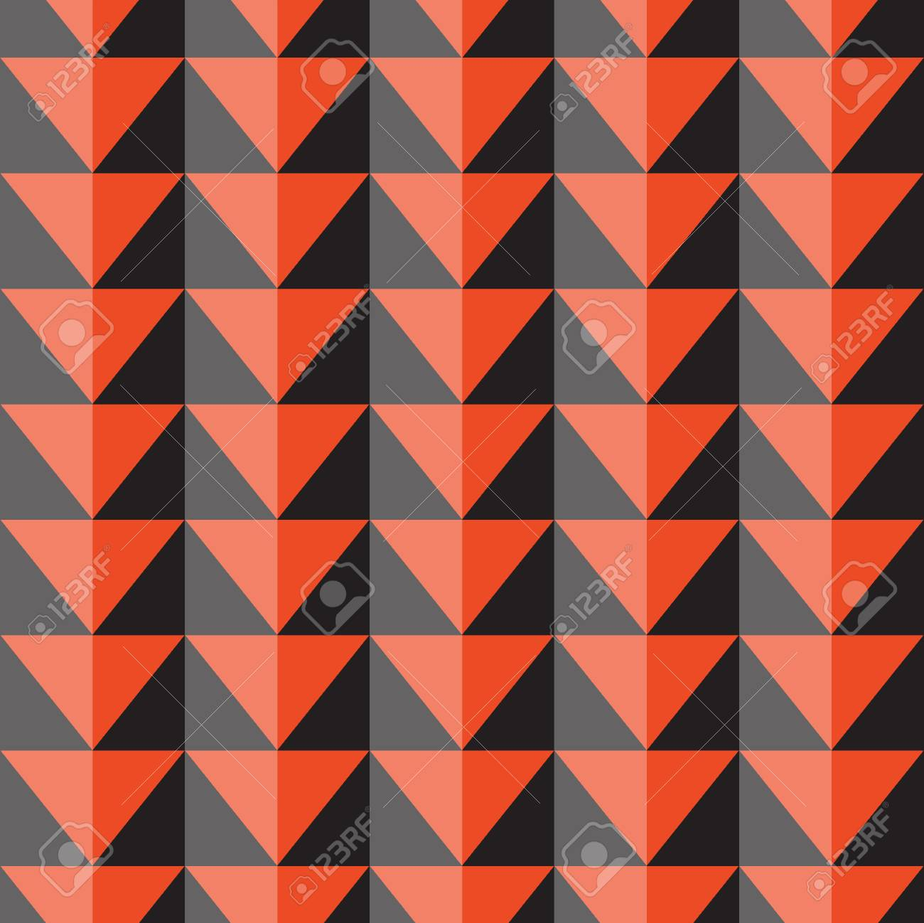 70668631 seamless vector pattern with orange and gray triangles wallpaper pattern fills web page background s