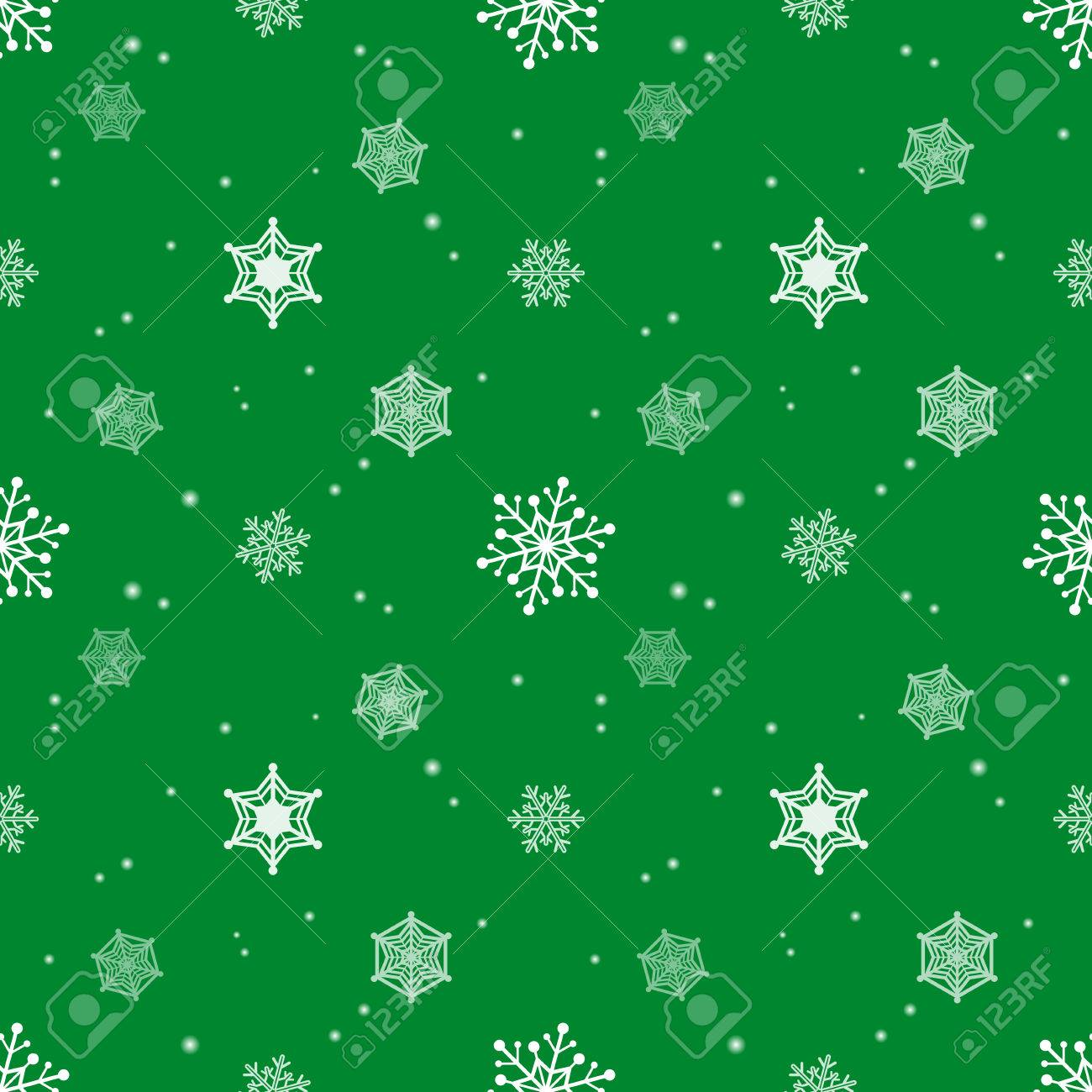 Schneeflocke Grüne Farbe Hintergrund, Tapeten Weihnachten Muster ...