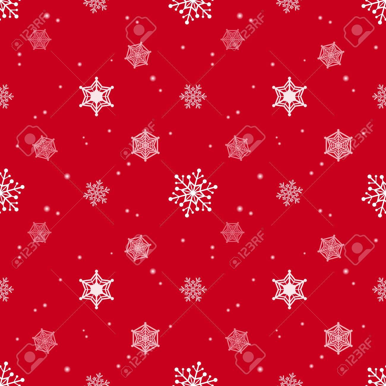 Schneeflocke Rote Farbe Hintergrund, Tapeten Weihnachten Muster ...