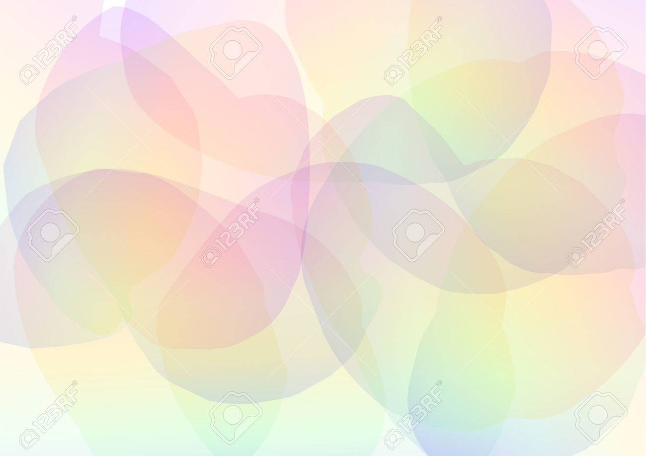 72477895 rainbow petal abstract background floral collage wallpaper soft curve transparent template vector il