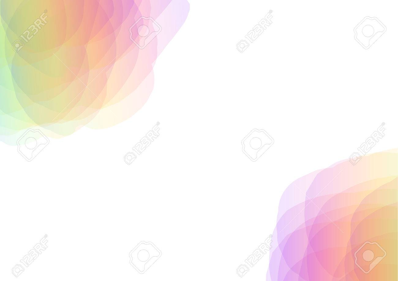 72477908 rainbow petal abstract on the corner of background floral collage wallpaper soft curve transparent t