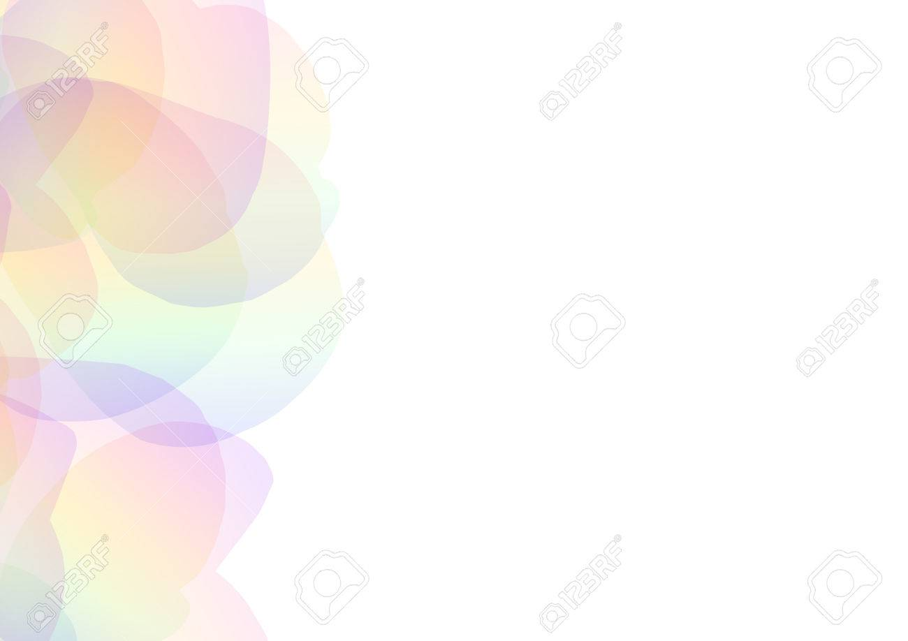 72477896 rainbow petal abstract background floral collage wallpaper soft curve transparent template vector il