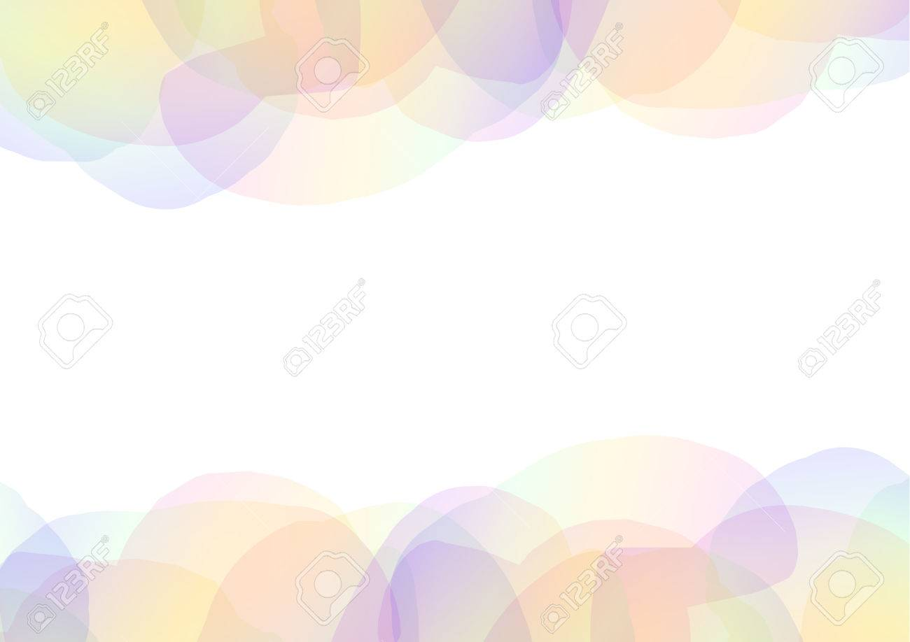 Rainbow Petal Abstract Background Floral Collage Frame Wallpaper
