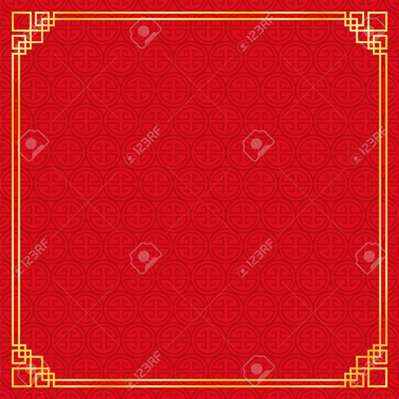 Chinese New Year Background, Abstract Oriental Wallpaper, Red