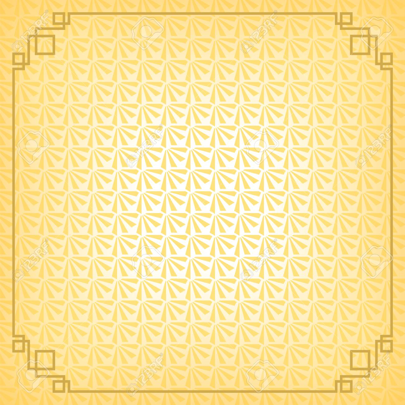 chinese new year background with gold border abstract oriental wallpaper with decoration frame yellow