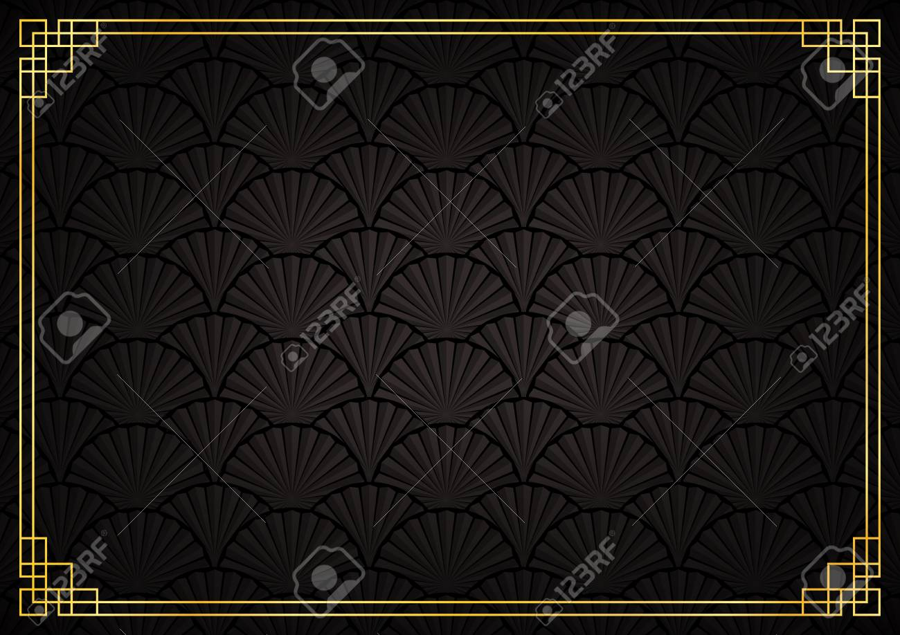 Chinese New Year Background Abstract Oriental Wallpaper Black
