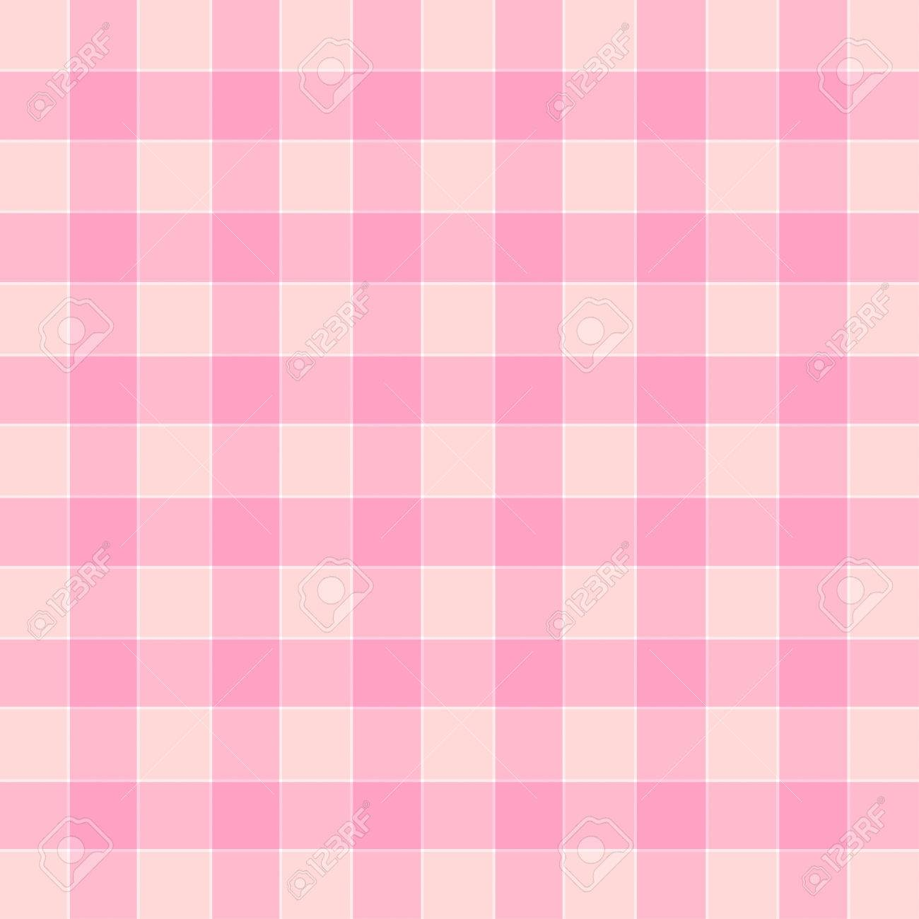 Plaid Color Match Pink Tone Vector Illustration Stock