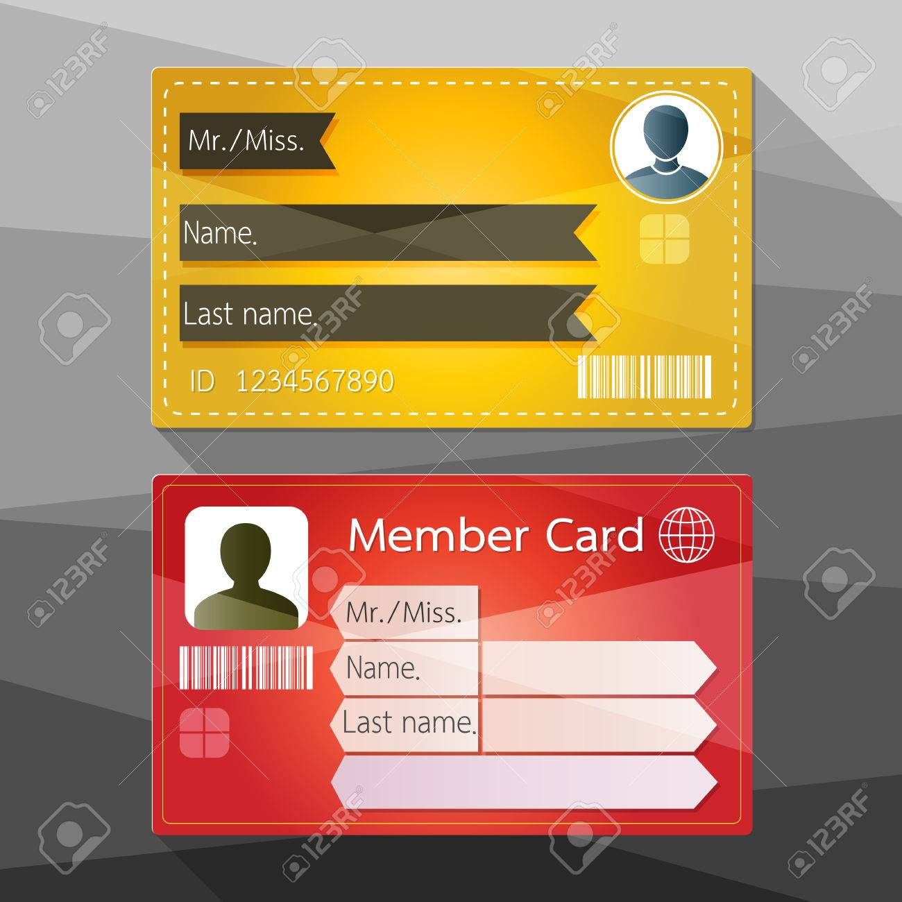 Member Card Design Stock Vector   41721257  Membership Card Design