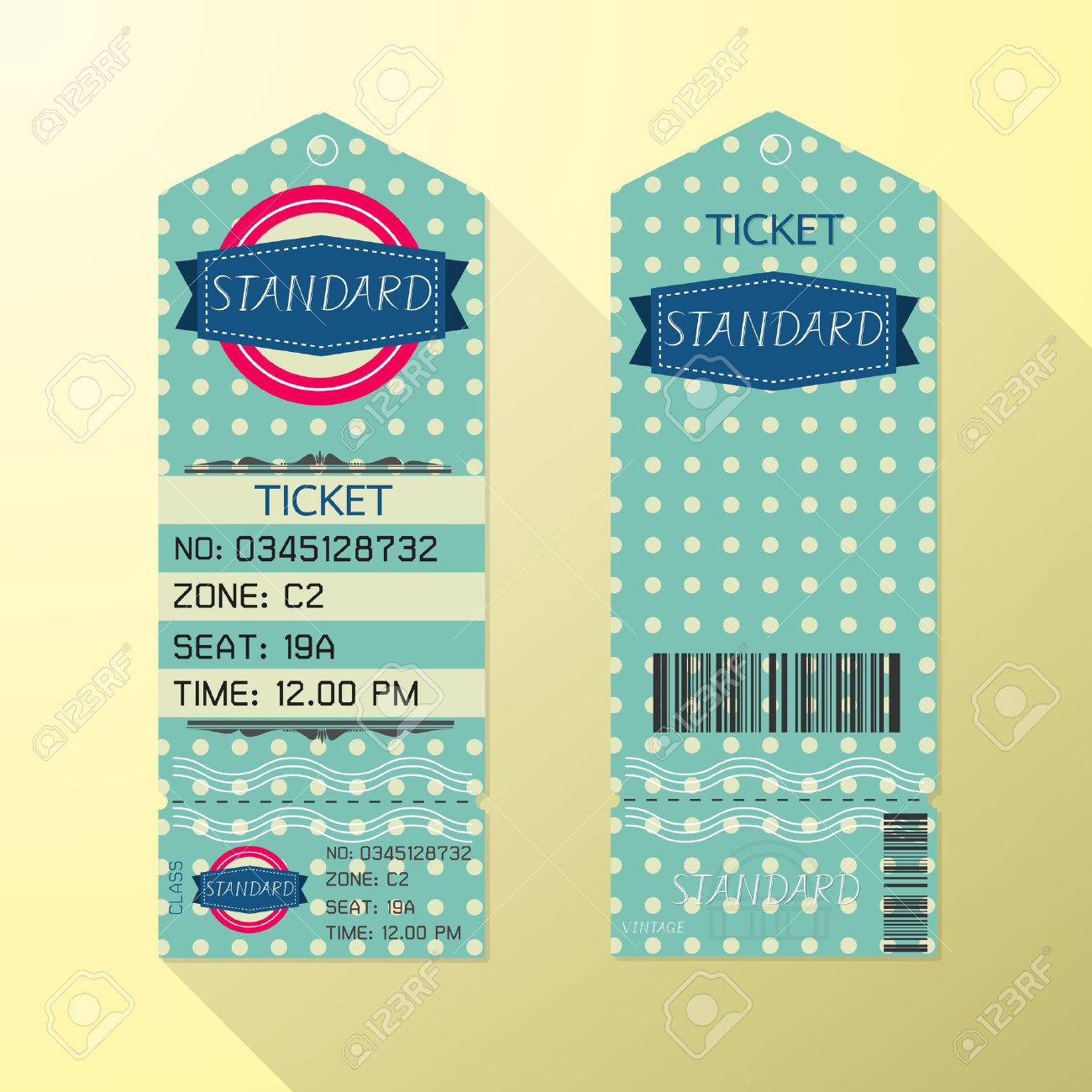 free ticket design template