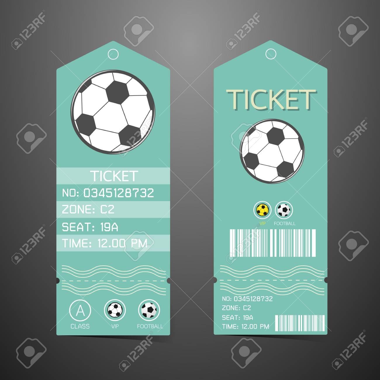 Ticket-Design-Vorlage. Konzept Der Fußball- Lizenzfrei Nutzbare ...
