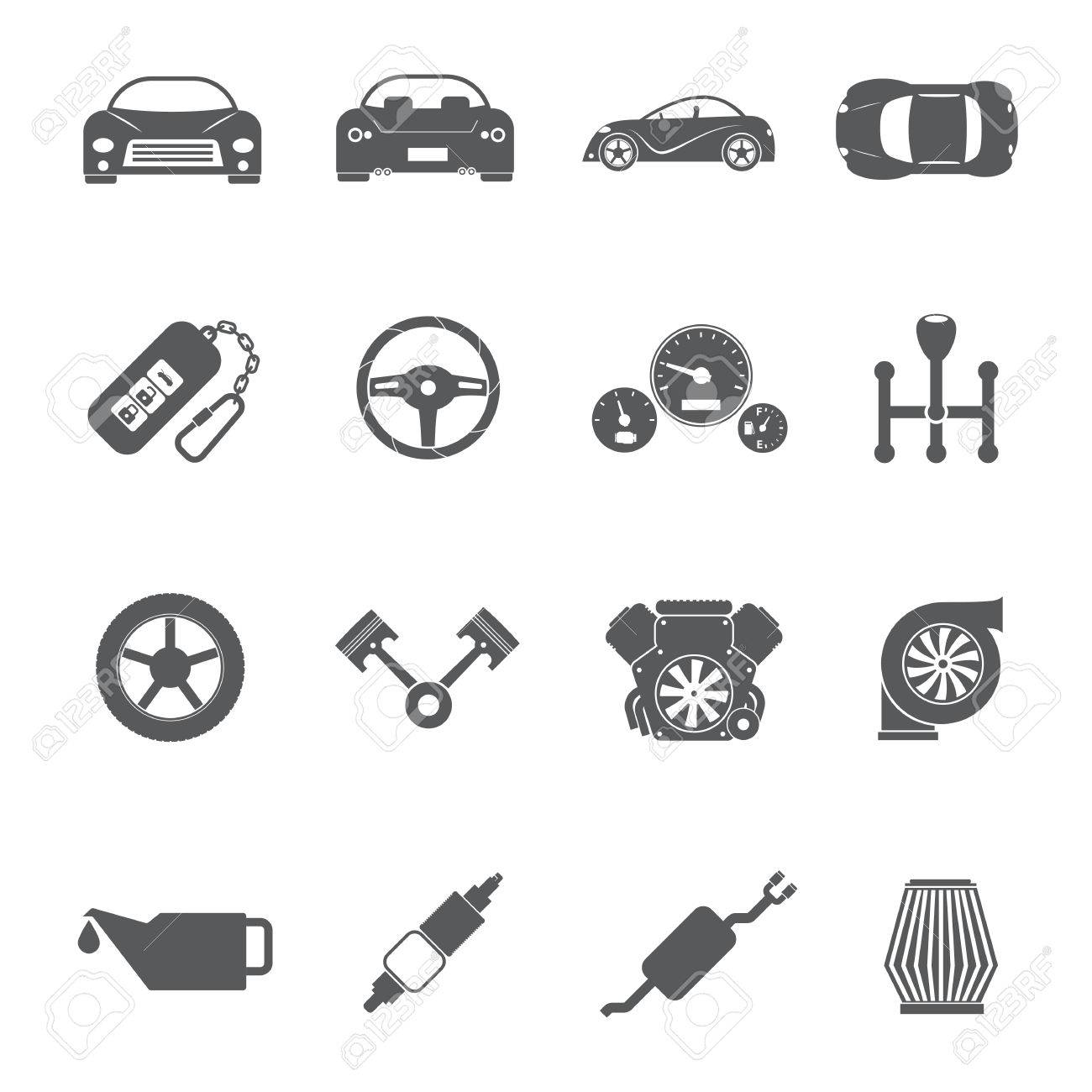 Car Parts Icons Royalty Free Cliparts Vectors And Stock Illustration Image 49824454