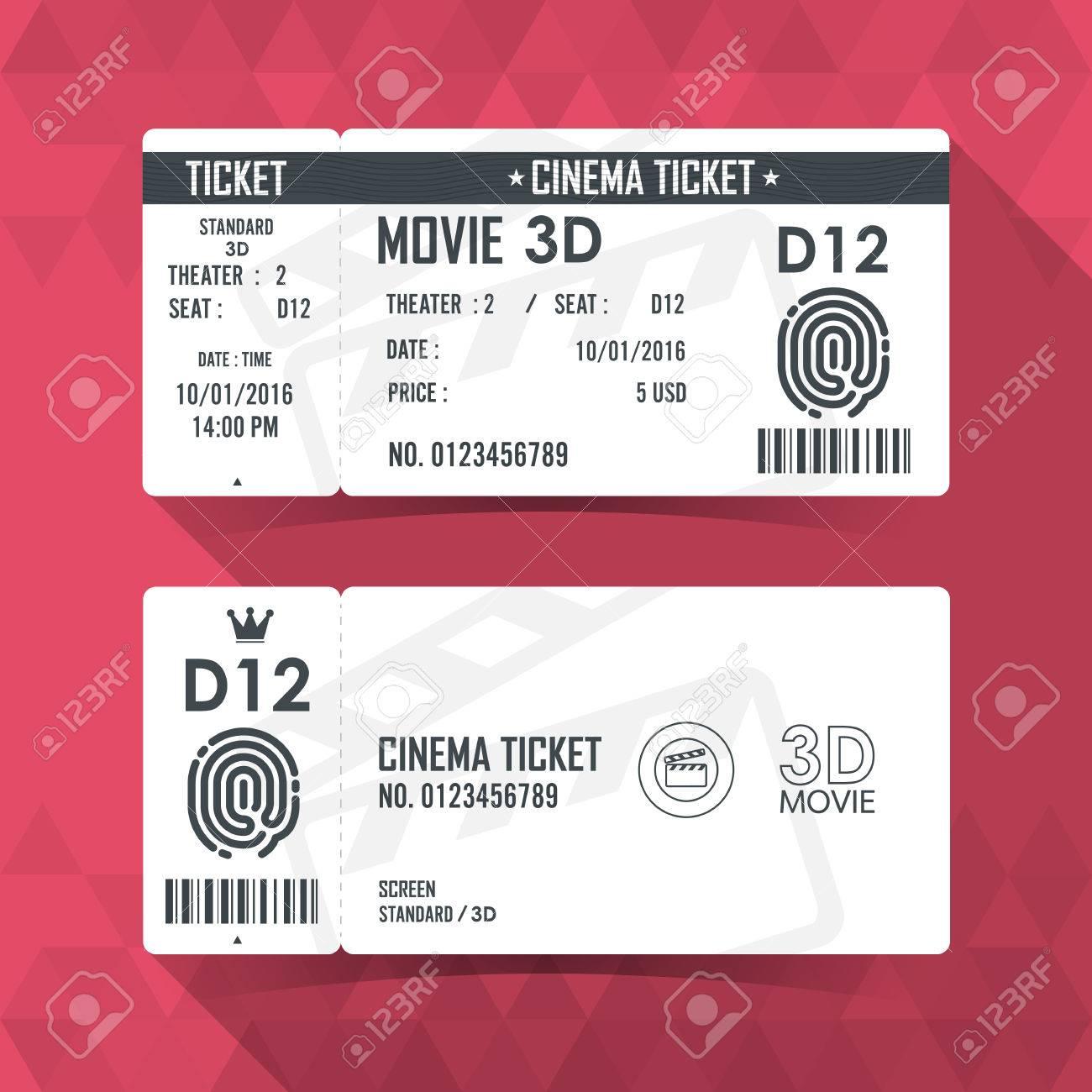 Erfreut Druckbare Film Ticket Vorlage Fotos - Beispiel Business ...