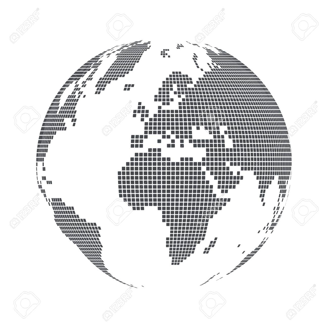 Globe shape world map with square dots vector illustration royalty globe shape world map with square dots vector illustration stock vector 97359089 gumiabroncs Choice Image