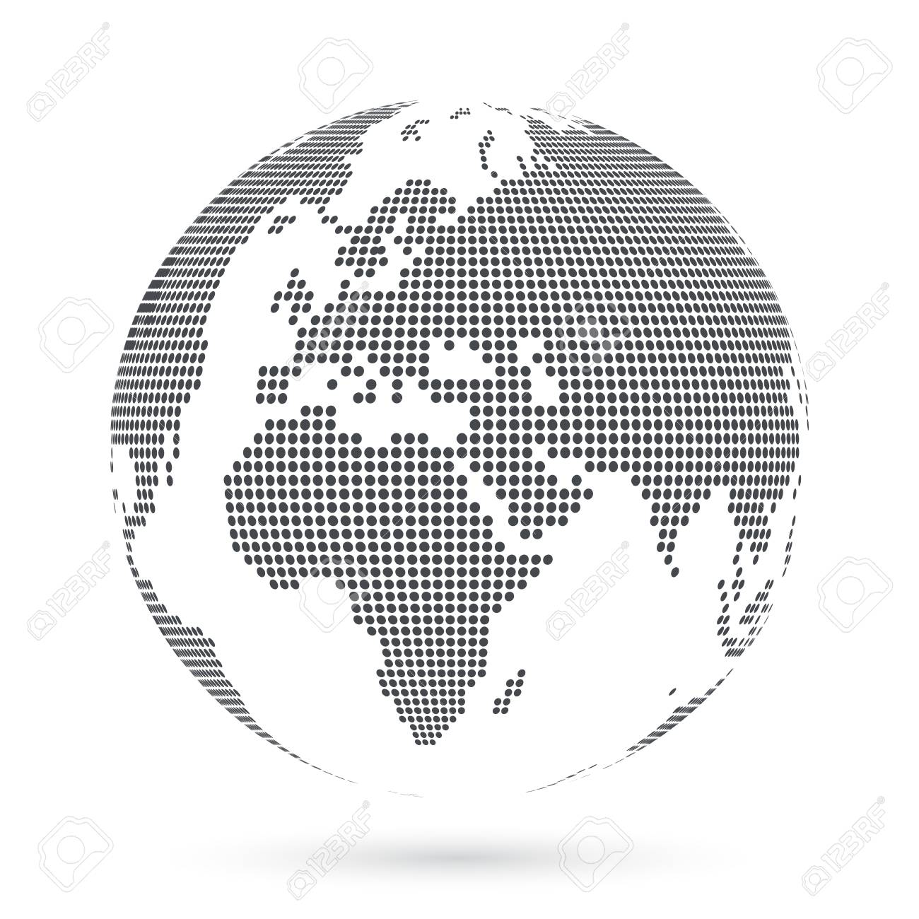 Globe shape world map created from dots vector illustration royalty globe shape world map created from dots vector illustration stock vector 99110170 gumiabroncs Image collections