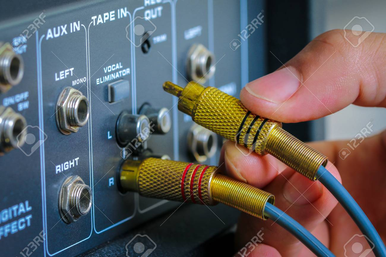 Technician RCA Jacks For Connecting To The Audio Control Mixer ...