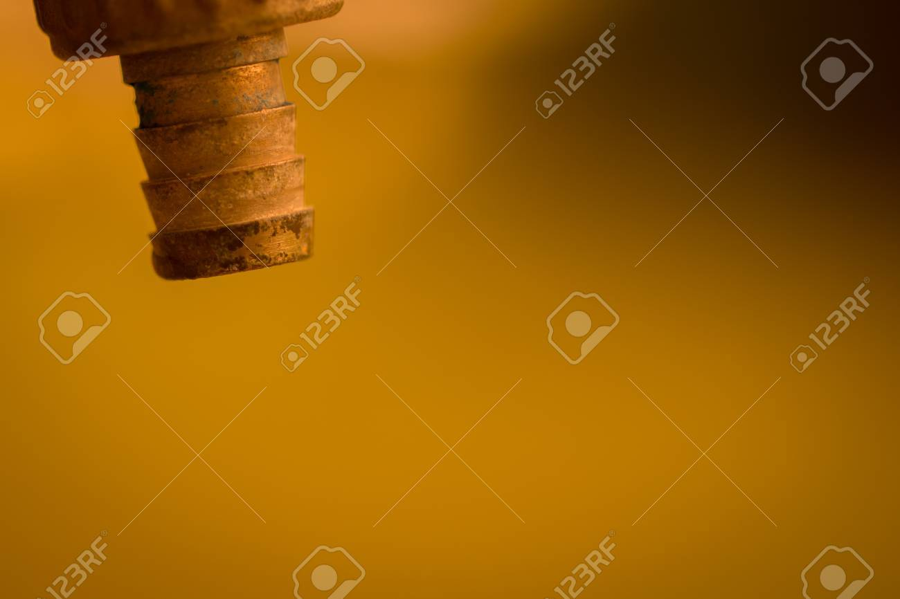 Faucet, Arid, Drought, Global. Closeup Faucet, No Water For The ...