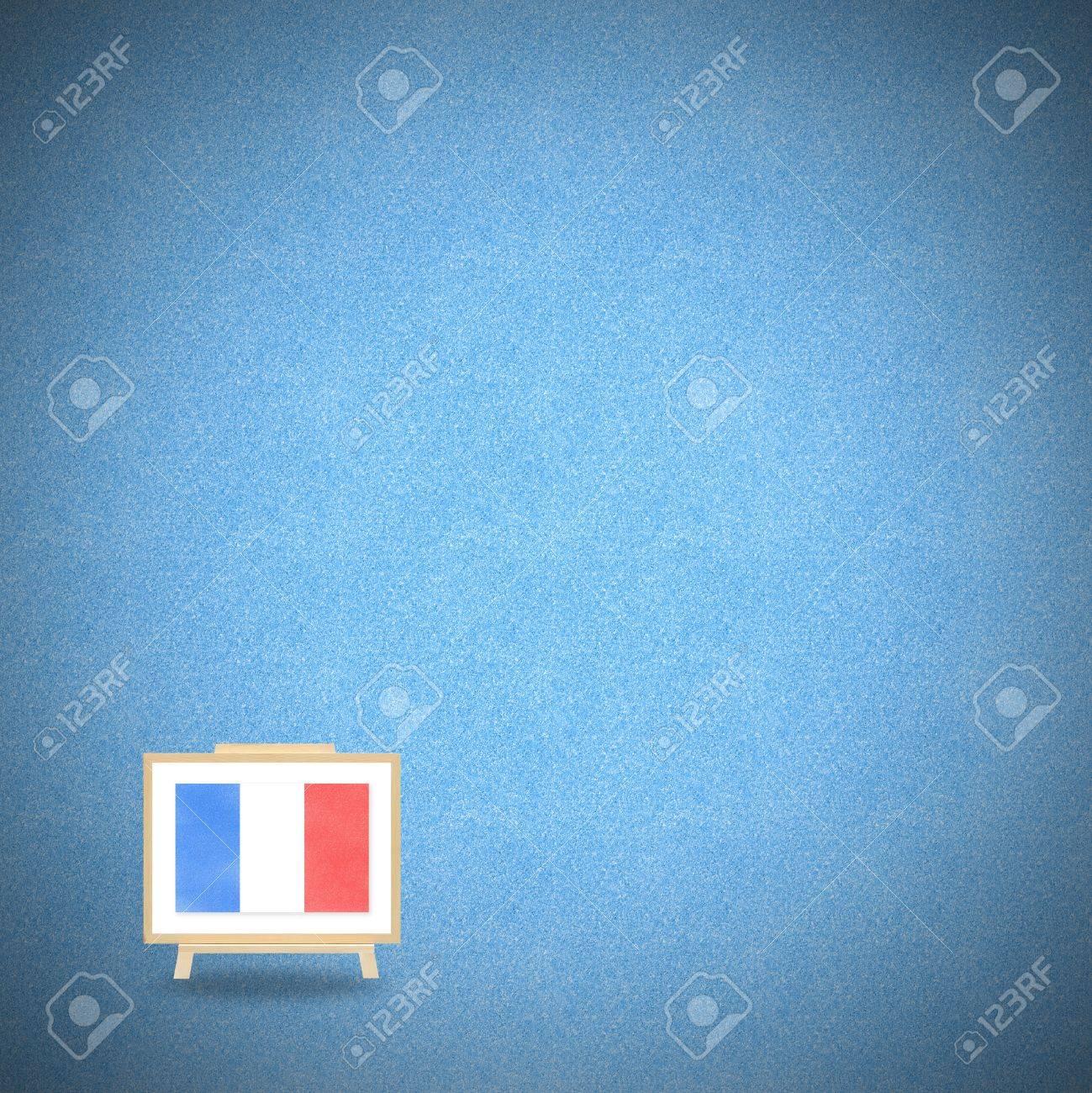 Drapeau France Sur Fond Bleu Liege Banque D Images Et Photos Libres De Droits Image 13501200
