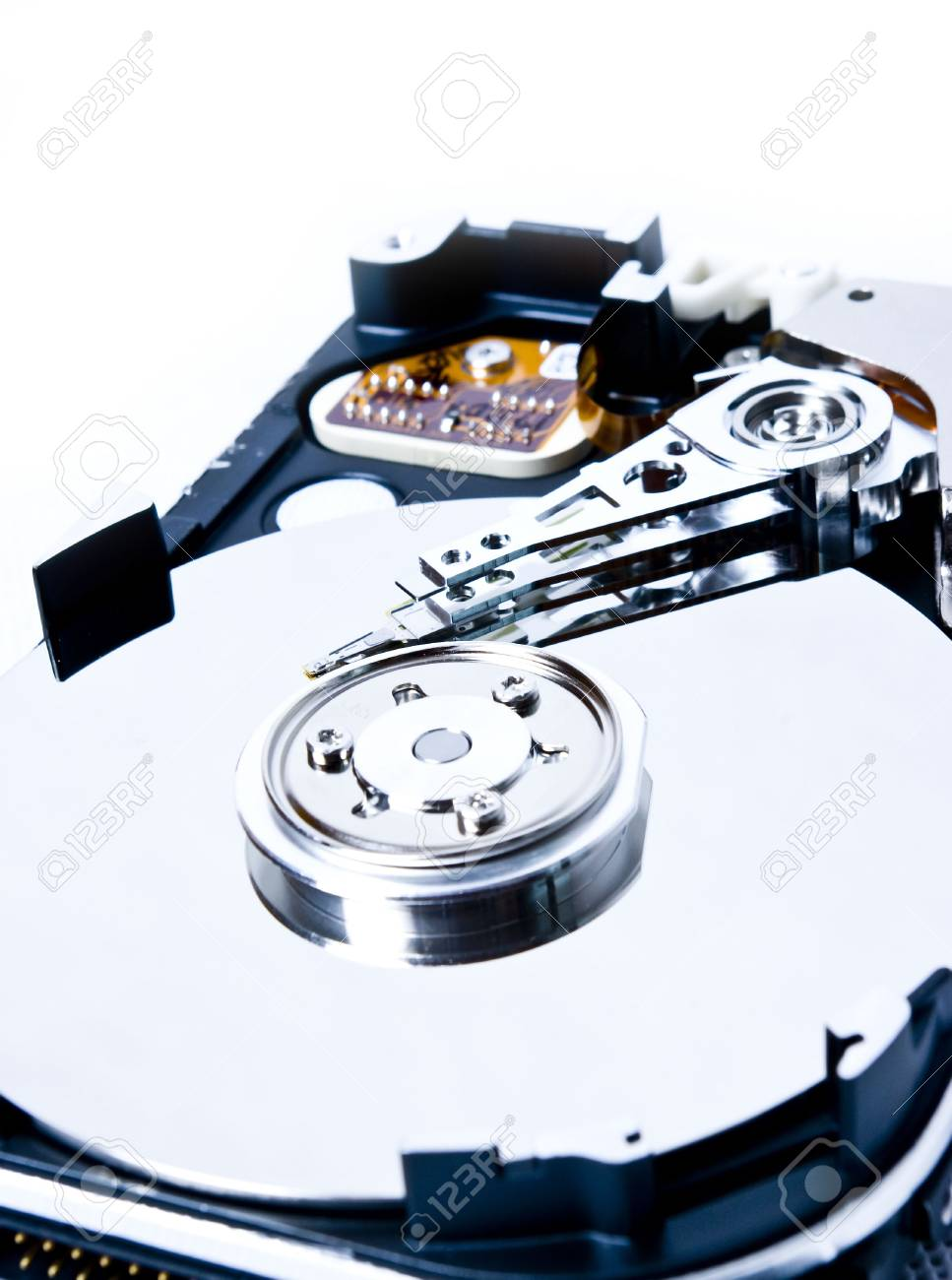 one hard drive on white Stock Photo - 7068747