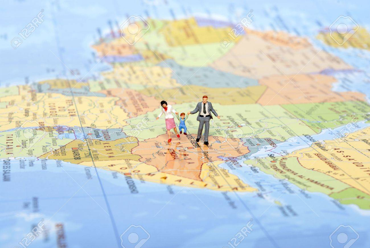 Miniature Family On Travel Photo Picture And Royalty Free – Family World Travel Map