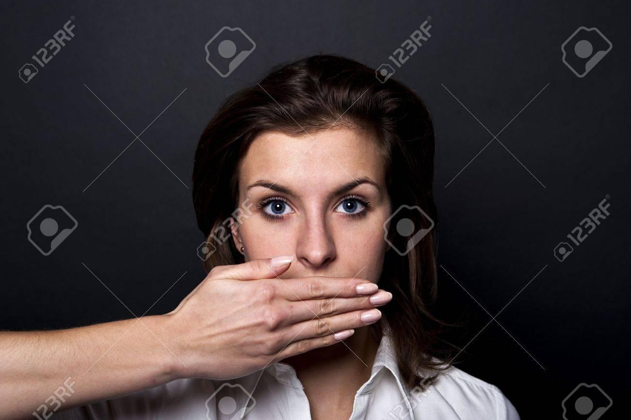 woman can't speech Stock Photo - 12202138